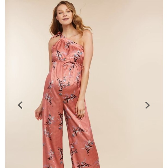 discount collection how to buy top fashion Maternity pink floral jumpsuit